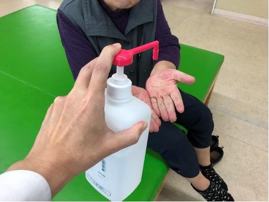 手指の消毒